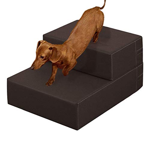 RoomClip商品情報 - ottostyle.jp ドッグステップ Mサイズ 40cm×44cm×15cm (ブラウン) 抗菌・防臭 愛犬のソファやベッドの昇り降りに!ドッグステップで安心・安全!
