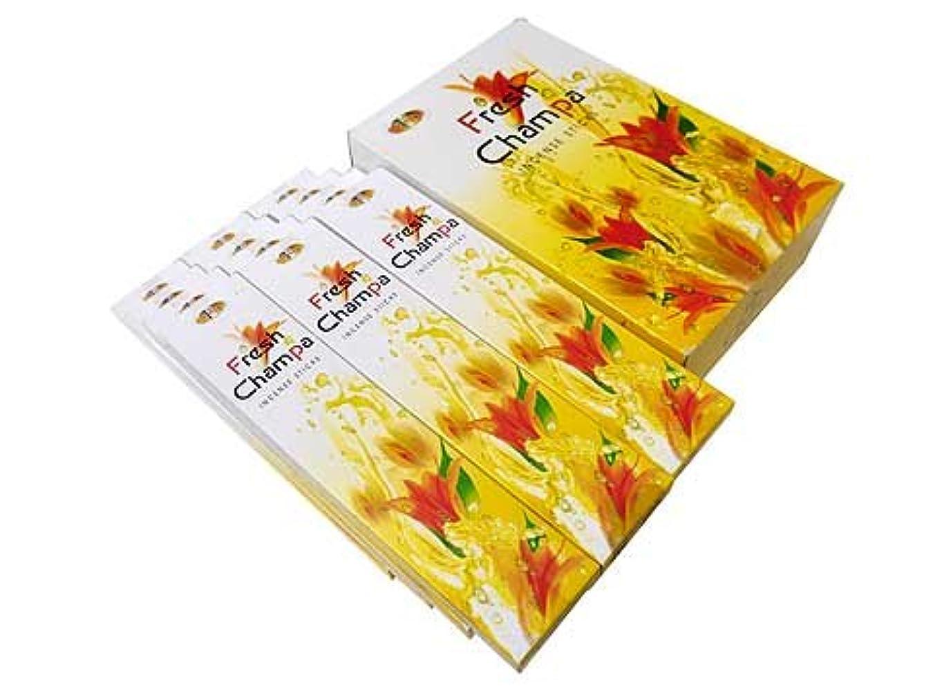 ファウルあらゆる種類の宣伝FRESH FRAGRANCES(フレッシュフレグランス) フレッシュチャンパ香 スティック FRESH CHAMPA 12箱セット