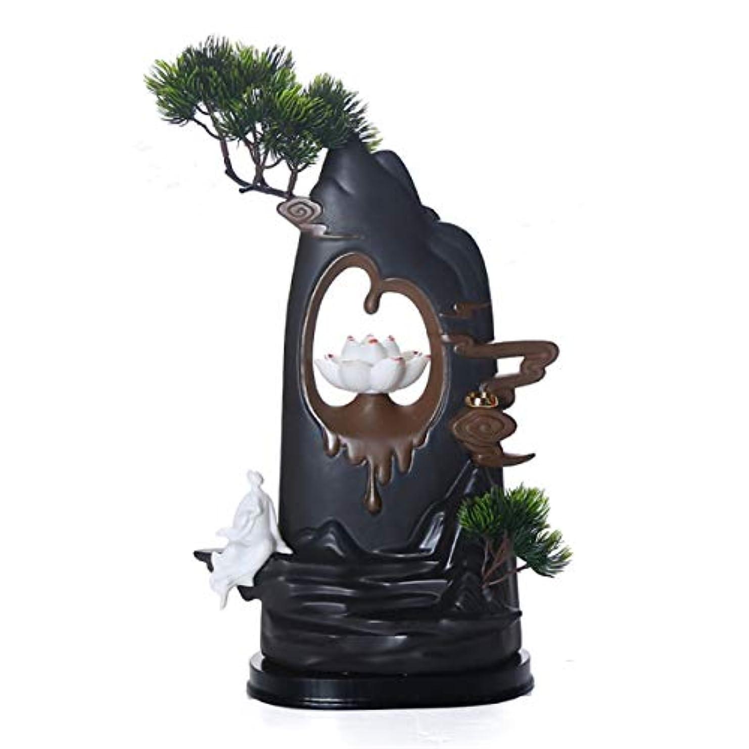 特異な亡命実際の香炉LEDグローイングセラミック香コーンバーナー香スティックホルダー逆流香バーナーコーン香ホルダーホームデコレーションギフト逆流香ホルダー