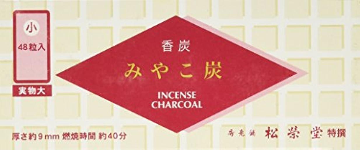六分儀ピクニック革命松栄堂の香炭 みやこ炭 A小48粒 赤箱 #750111