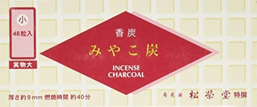 ブロック改修するアイスクリーム松栄堂の香炭 みやこ炭 A小48粒 赤箱 #750111