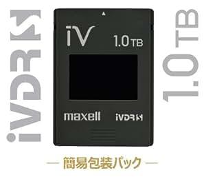 マクセル iVDR-S規格対応リムーバブル・ハードディスク 1.0TB簡易包装パック ブラックmaxell カセットハードディスク「iV(アイヴィ)」 M-VDRS1T.E.BK.K