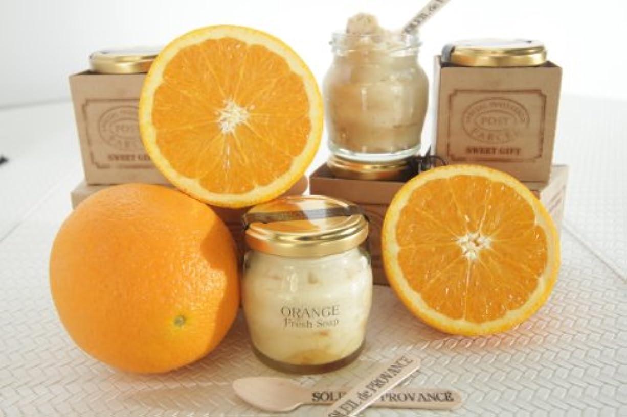 化学薬品から聞く溶かすSOAP &  JAM    オレンジ生石鹸(泡立てネット付)