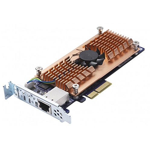 QNAP Dual M.2 SATA SSD single 10GBASE-T 10GbE network expansion card