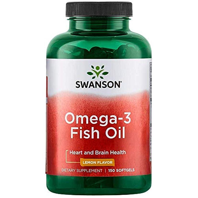 講師バタースクワイアSwanson Oméga-3, 150 gélules (180mg d'EPA et 120mg de DHA à partir d'Huile de Poisson au Parfum Citron, Omega...