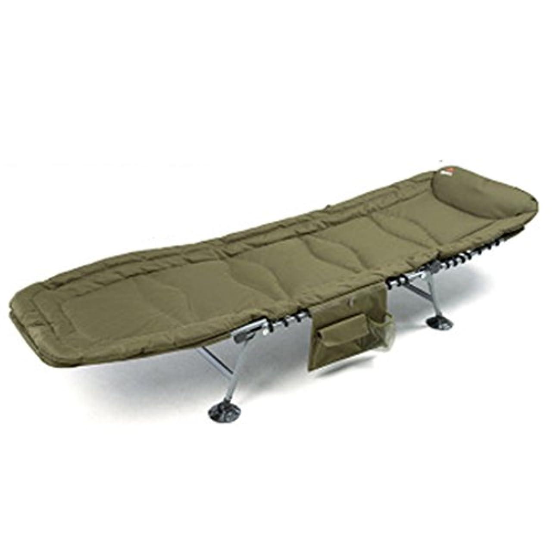 堂々たる感じ無駄だ折りたたみ式ベッド 折りたたみシートの人のオフィスの昼寝ベッドのホームシンプルな布のベッドキャンプベッド (Color : Green, Size : 185*62*44 cm)