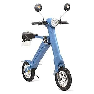 BLAZE 電動バイク 折りたたみ型 (ナンバー取得付き) デニム SMART EV 車内積込み可能 12インチ 重量約18kg 脱着式バッテリー SMART EV