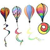 P Prettyia 風車 風船 バルーン 熱気球の形 ぶら下げ 空気不要 組み立て簡単 誕生日 パーティー 結婚式 4個