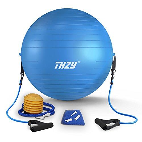 THZY バランスボール 65cm エクササイズボール ヨガ...