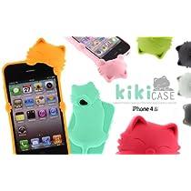 [SoftBank/au iPhone 4S/4専用]kiki 立体ネコ iphoneケースミントグリーン