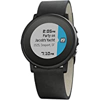 Pebble Time Round 20mm Smartwatch for Apple/Android Devices - Black/Black by Pebble Technology Corp
