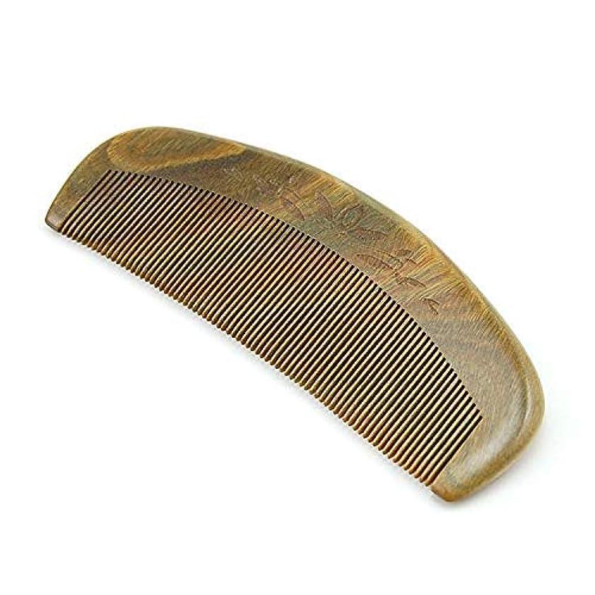 バイオリニストパッチ怪しいBrand New and Natural Green Sandalwood Fine Tooth Comb, Anti Static Pocket Wooden Comb [並行輸入品]