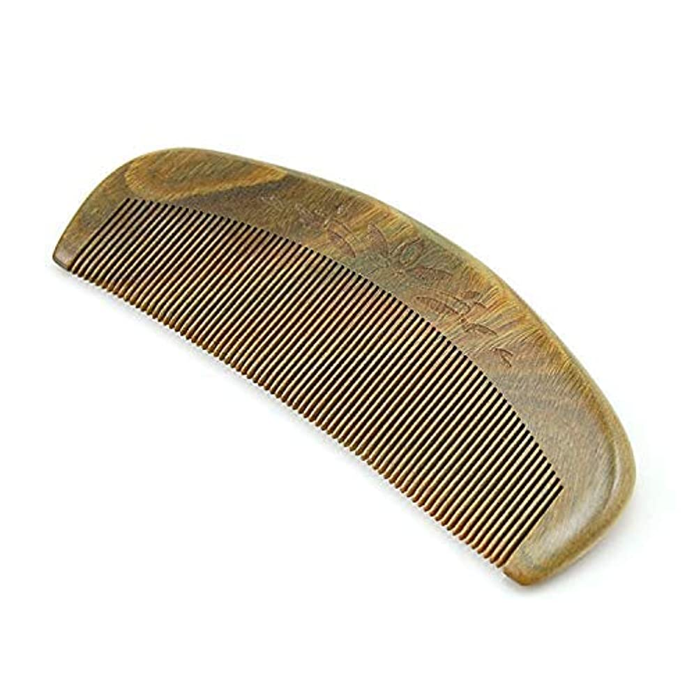 Brand New and Natural Green Sandalwood Fine Tooth Comb, Anti Static Pocket Wooden Comb [並行輸入品]