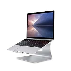Spinido アルミニウム製 MacBook/SONY/SAMSUNG ノートパソコンスタンド冷却台スタンド  一般的な ノート PC 対応 (silver)