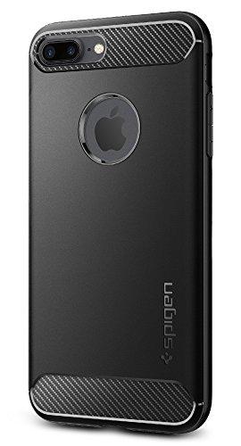 【Spigen】 iPhone8 Plus ケース / iPhone7 Plus ケース, [ 米軍MIL規格取得 落下 衝撃 吸収 ] ラギッド・アーマー アイフォン 8 プラス / 7 プラス 用 耐衝撃カバー (iPhone8 Plus / iPhone7 Plus, ブラック)