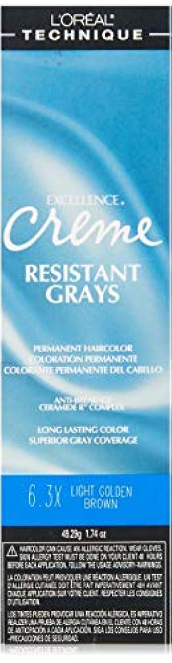 薬または管理L'Oreal Paris 優秀クリーム優れたグレーカバレッジ、6.3Xライトゴールデンブラウン、1.74オンス