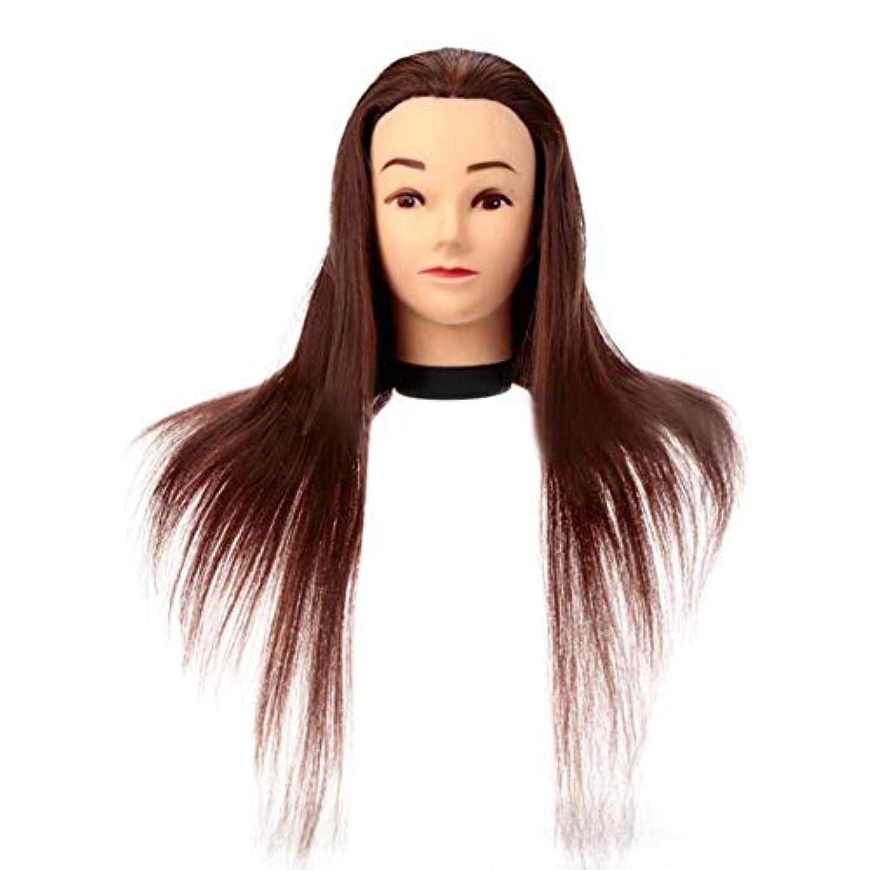 バーメイドバイオリンサロン散髪練習ヘッドモデルメイク学校編組髪開発学習モデルヘッドヘアストレートロングかつら