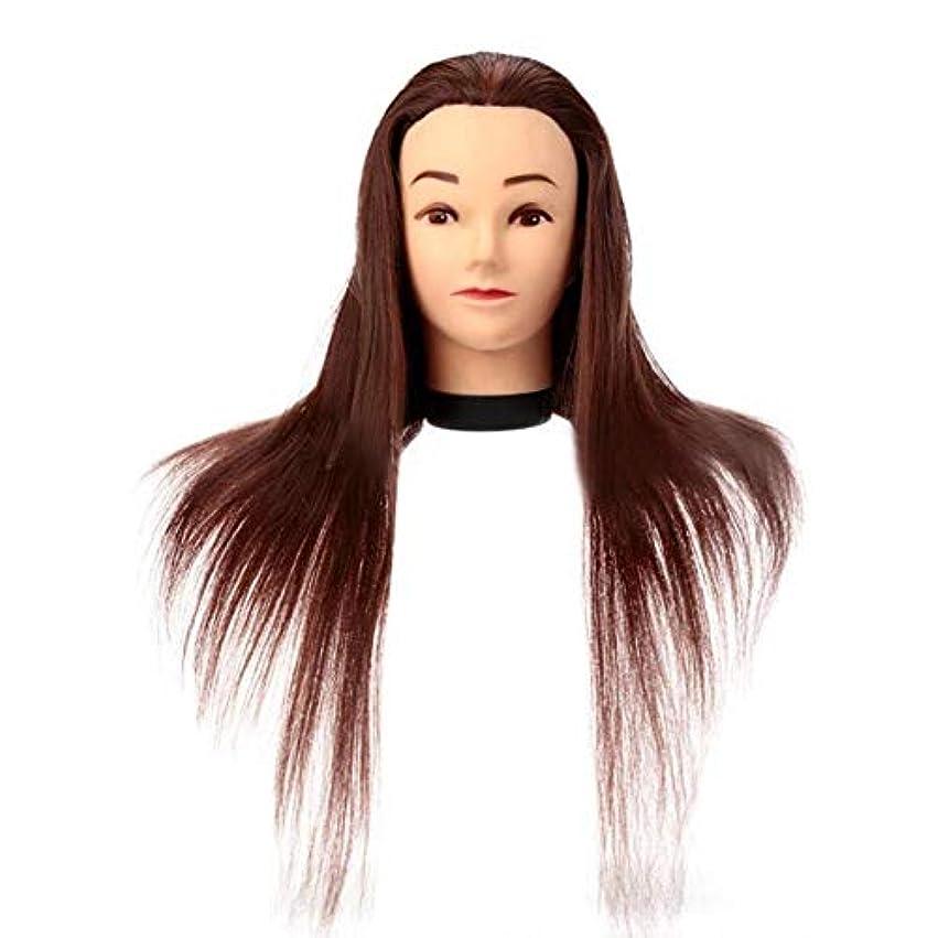 カウンタ解決するアンドリューハリディサロン散髪練習ヘッドモデルメイク学校編組髪開発学習モデルヘッドヘアストレートロングかつら