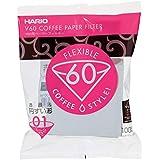 HARIO (ハリオ) V60 用 ペーパーフィルター 01W 1~2杯用 100枚入り ホワイト VCF-01-100W