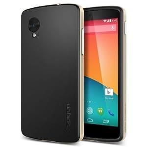 二重構造 Spigen 【 Google Nexus 5 ケース 】 ネオ・ハイブリッド TPU ケース + ハード フレーム (国内正規品) (ゴールド SGP10564)