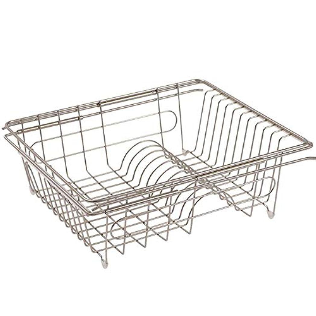 浪費効果シンプルなキッチン棚の食器ラックドレンバスケットシンク棚テレスコピック設計アイアン