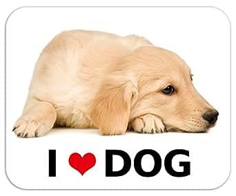 kmag 犬マグネット I love dog ゴールデンレトリーバーのパピー