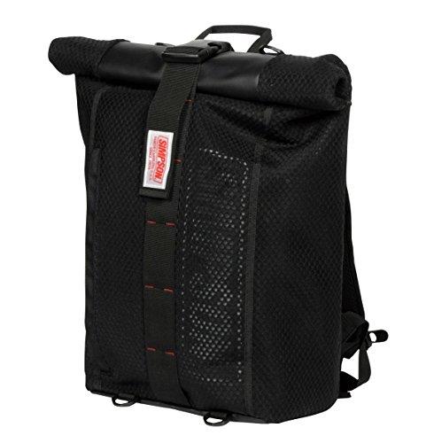 シンプソン(SIMPSON) バイク用バッグ Water Proof Roll Up Bag Pac(ウォータープルーフロールアップバックパック) ブラック フリーサイズ SB-320
