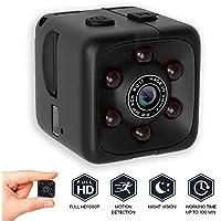 Xmony 最新-SQ11 超小型 720P 赤外線 暗視機能 サイクル録画1280*720P 動体検知 防犯カメラ 監視カメラ 360度回転/90度スイング ビデオカメラ 親指サイズ ミニ 広角140°ドライブレコーダー ブラック