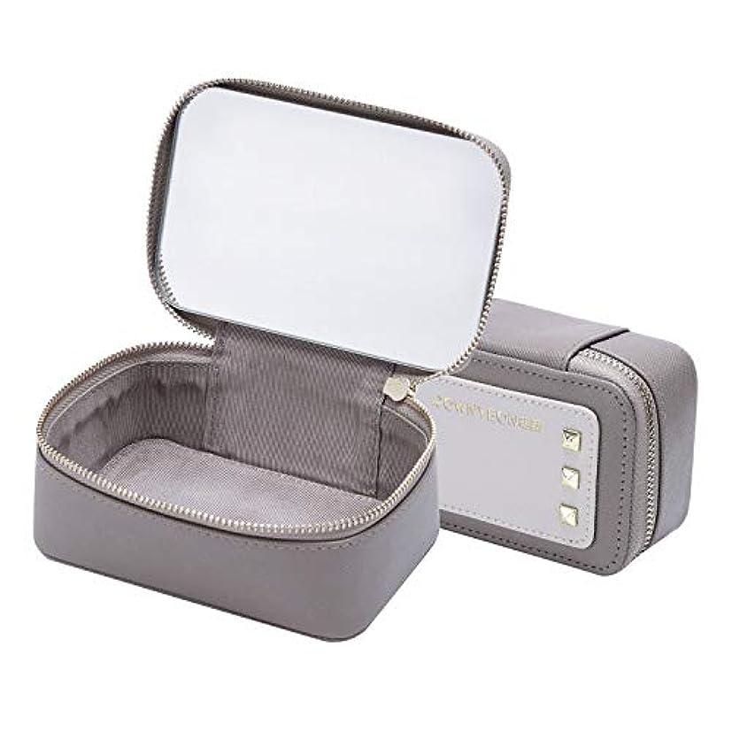 頑固な武装解除特権的Rownyeonミニメイクポーチ 鏡付き リップポーチ ミニ メイクボックス ミラー付き 口紅 香水 化粧品収納 リップ収納 携帯便利 コンパクトサイズ 旅行用 かわいい おしゃれ