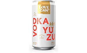 Love Can Vodka Yuzu, 12 x 250ml cans. Made by Poor Toms Distillery and StrangeLove Soda Co