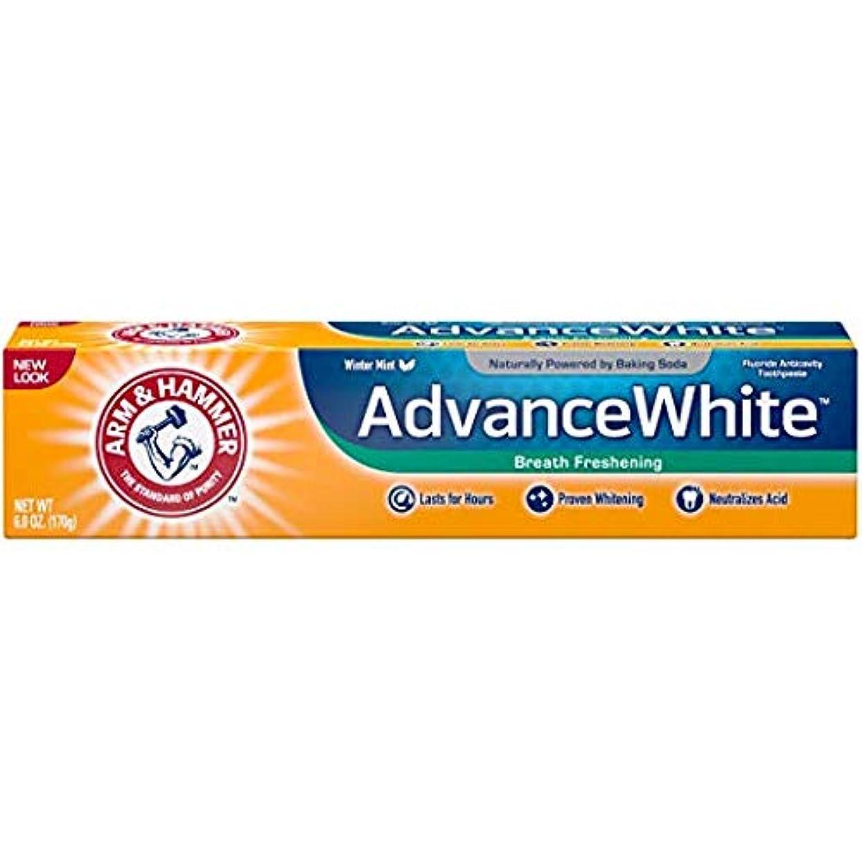 卒業南西オーガニックArm & Hammer アドバンスホワイト重曹歯磨き粉、フロストミント6オズ(4パック) 4パック