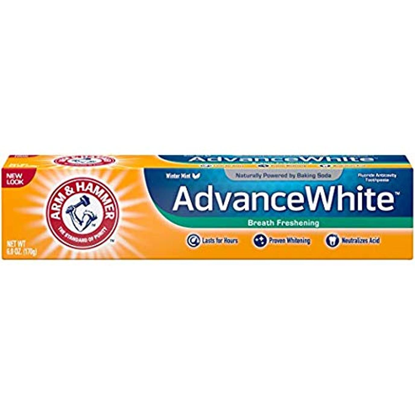 リダクター写真のとArm & Hammer アドバンスホワイト重曹歯磨き粉、フロストミント6オズ(4パック) 4パック
