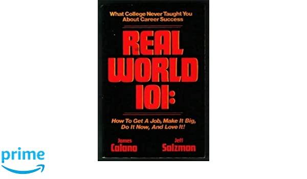 real world 101 how to get a job make it big do it now and love it
