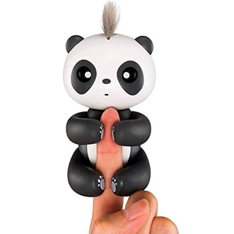 インテリジェントなインタラクティブ指パンダ、スマート電子インタラクティブ指Toys for Kidsベビーと最高のギフトクリスマス、休日、誕生日など。(ブラック)