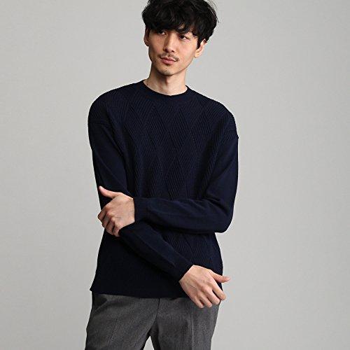 (タケオキクチ) TAKEO KIKUCHI 麻混カゴメクルーネックニット 07014052 02(M) ネイビー(093)