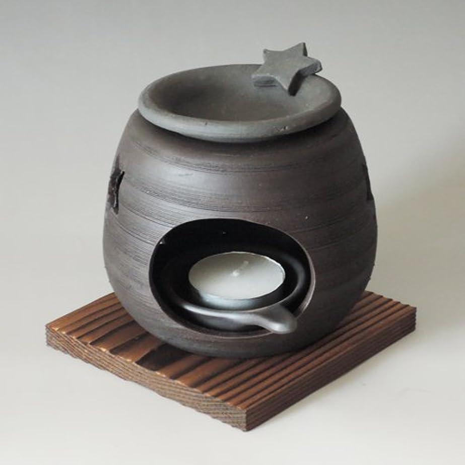 面積国旗滝茶香炉 常滑焼 石龍作「星」川本屋茶舗