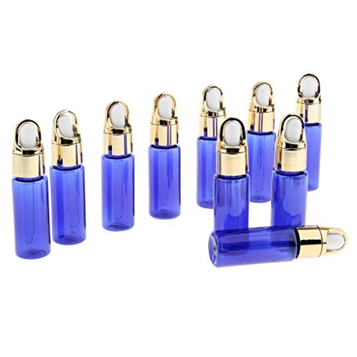 謎めいた証言するそうでなければ20ミリリットル 空のドロッパーボトル 詰め替え可能な 精油 香水入り 耐久性 全2色 - 青