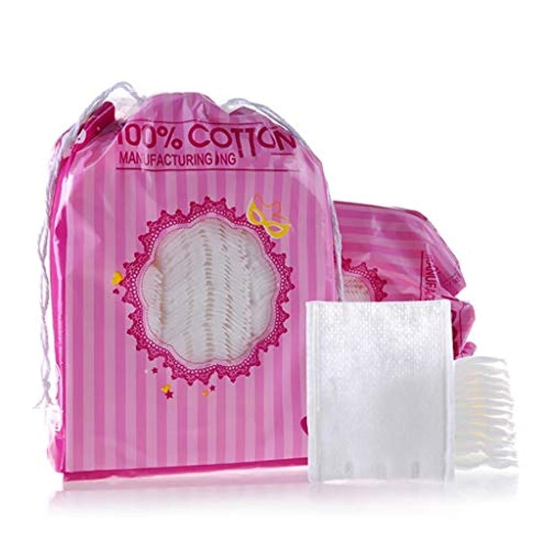 クレンジングシート 200ピースコットンメイクアップリムーバーパッドソフトオーガニックネイルポリッシュワイプ両面フェイスクレンジング美容化粧品パッド (Color : White)