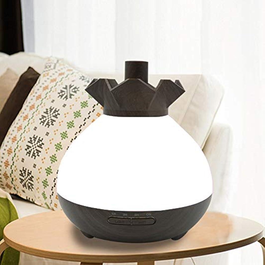 ピストン許容できる明らかにWifiアプリコントロール 涼しい霧 加湿器,7 色 木目 空気を浄化 加湿機 プレミアム サイレント 精油 ディフューザー アロマネブライザー ベッド- 400ml
