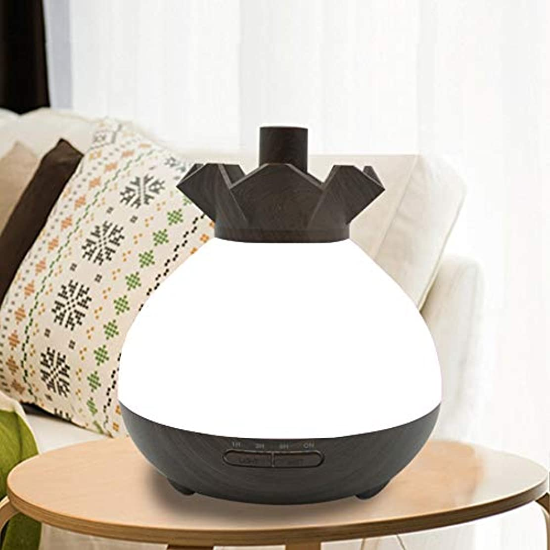 ベリ伝統的残りWifiアプリコントロール 涼しい霧 加湿器,7 色 木目 空気を浄化 加湿機 プレミアム サイレント 精油 ディフューザー アロマネブライザー ベッド- 400ml