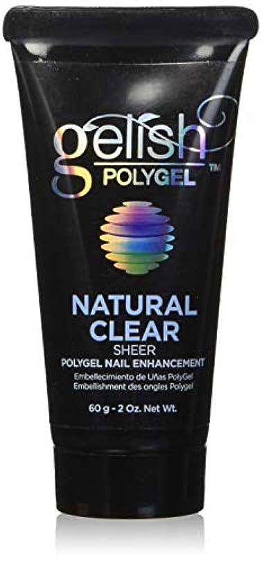 ワックス包括的入口Harmony Gelish Gel Polish - PolyGel - Natural Clear - 60g/2oz