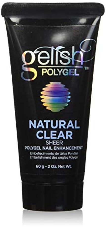 道徳の手のひら同化するHarmony Gelish Gel Polish - PolyGel - Natural Clear - 60g/2oz