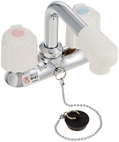 洗面用2ハンドル混合栓(ゴム栓付) KM17NSGS