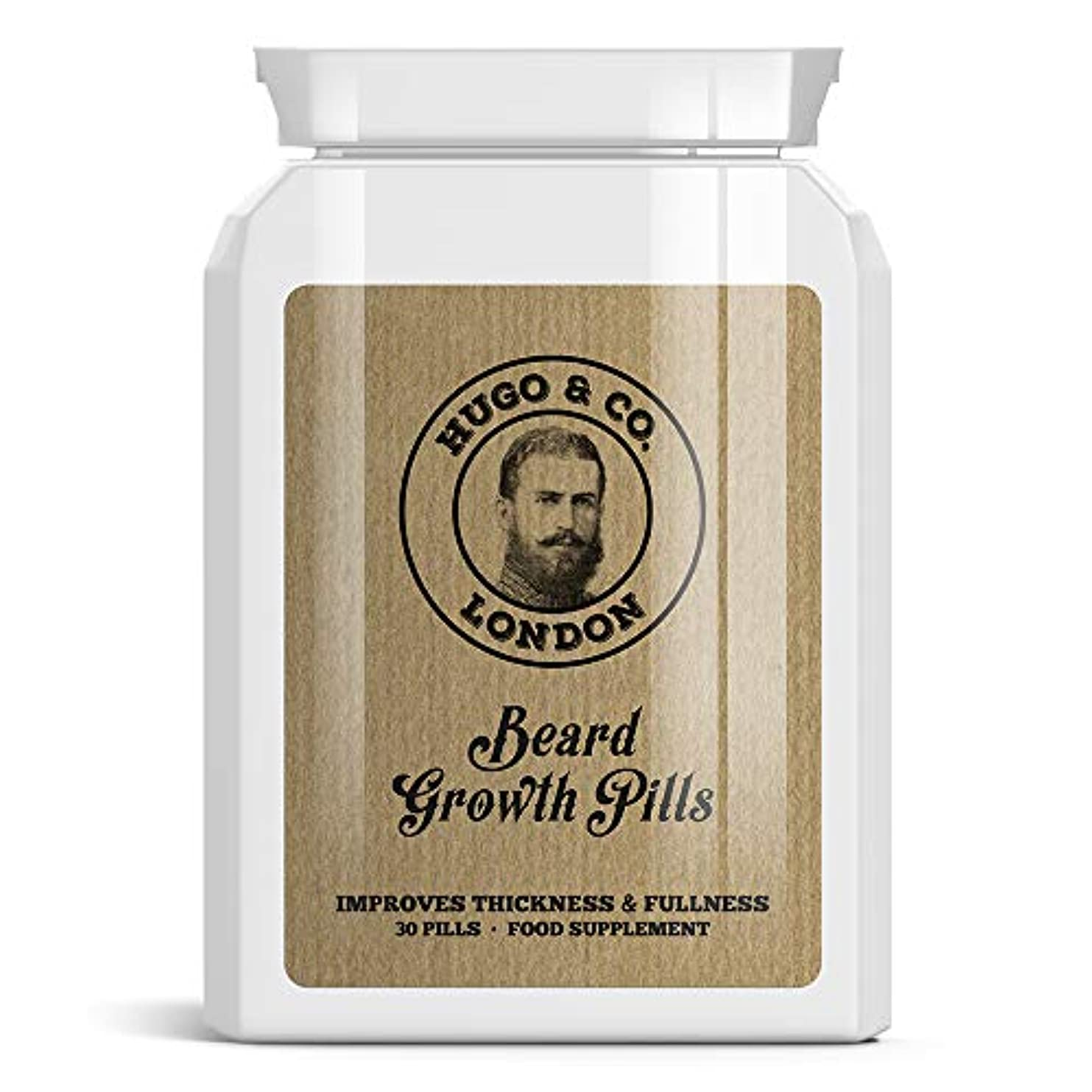 HUGO & CO LONDON BEARD GROWTH PILLS ロンドンひげの成長丸薬は - パッチ状ビッグシックひげGROW STOPS HUGO& CO Rondon hi-ge no seich? gan'yaku...
