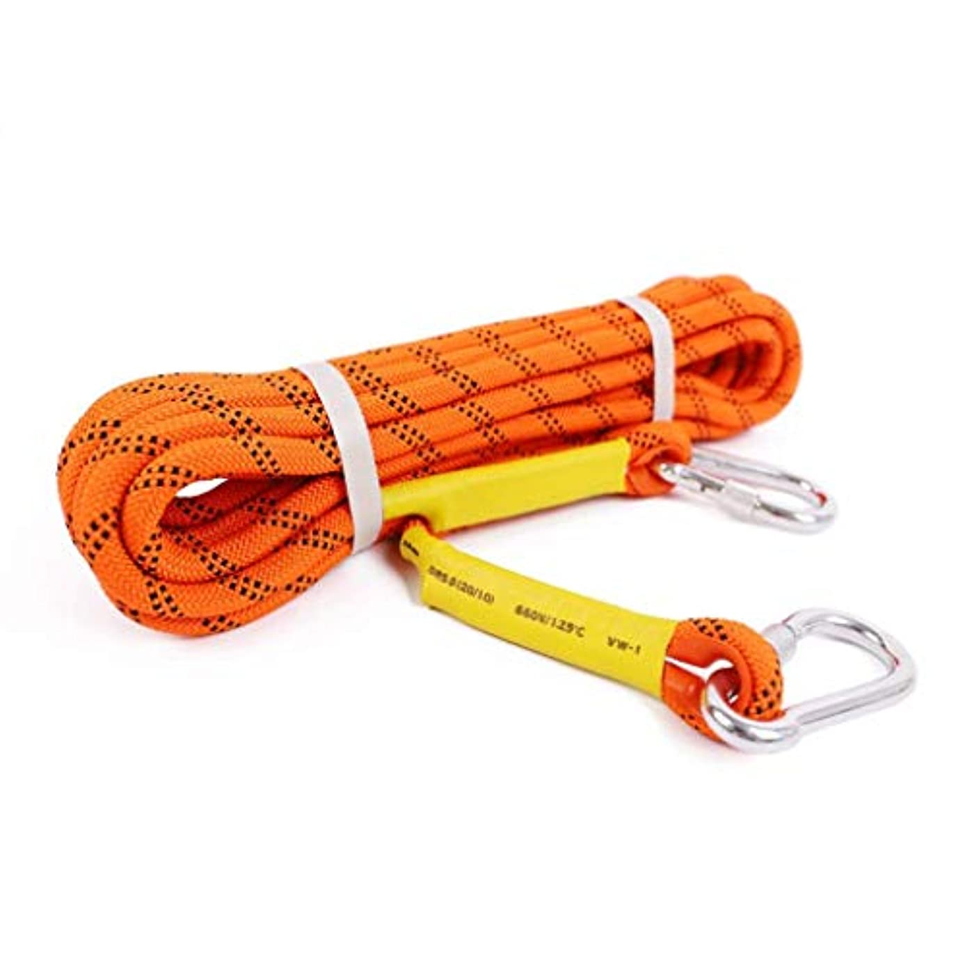 結核認識マントクライミングロープ、20メートル屋外登山ラペリングアブセーリング 黒8ミリメートル火災緊急脱出安全装置レスキューロープ(色:オレンジ、サイズ:20メートル)