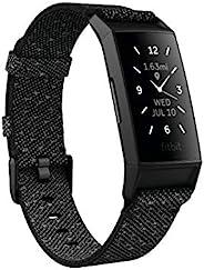 Fitbit Charge 4 Activity Tracker, Granite, Refl/Black (S &L Bands Inclu