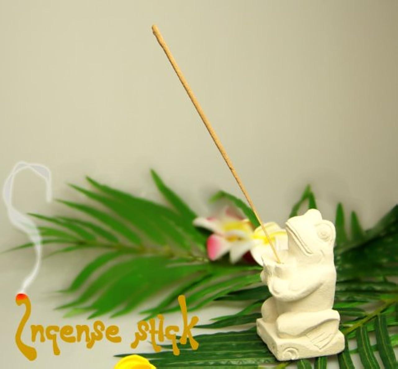 運動征服者貢献プルメリアの葉っぱで出来たケースに入ったスティックタイプお香20本 (ストロベリー)