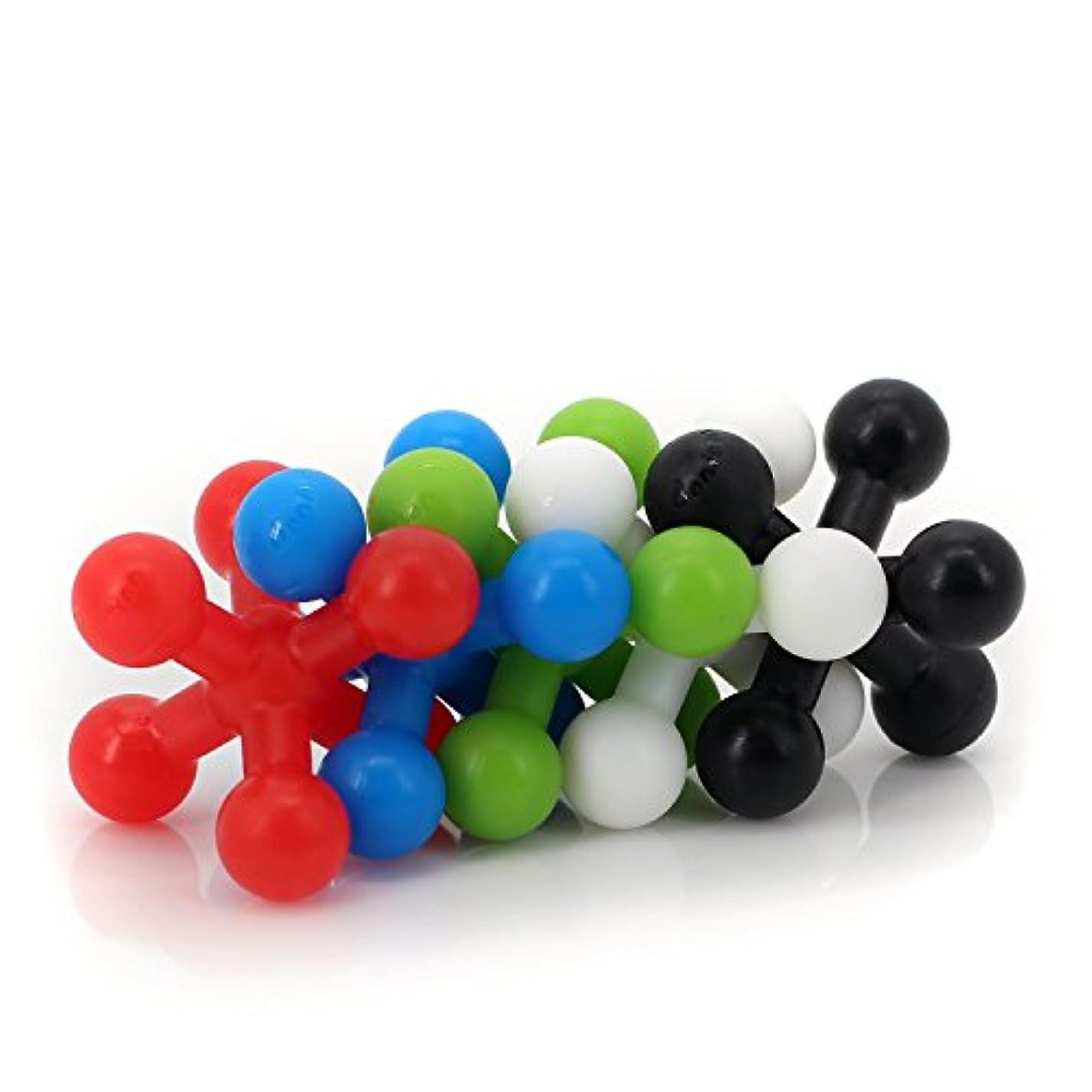 医薬アリーナ簡略化する強力な文字列ボールShakerのボトル/Perfect forブレンド、ミキシング、文字列パウダーDrinks – 虹色5個パック