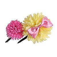 (アリサナ)arisana 浴衣 かみかざり 花 こども 和装 子供 アクセサリー 髪かざり コサージュ ピン 女の子 浴衣髪飾り(2個セット) B/イエロー×ピンク