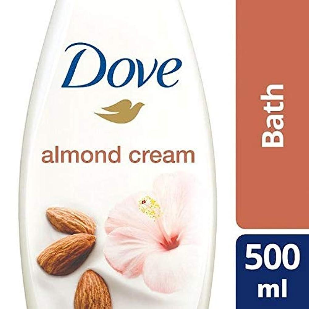 舌余剰解く[Dove ] 純粋なアーモンド思いやりのあるクリームバスの500ミリリットルを甘やかす鳩 - Dove Purely Pampering Almond Caring Cream Bath 500ml [並行輸入品]